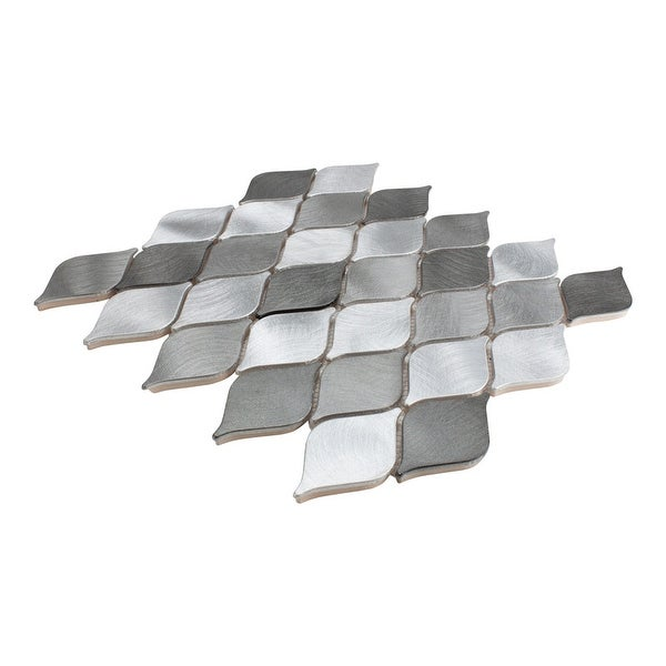 Giorbello Marina Silver Teardrop Mosaic Tile (Case of 11 Sq. Ft.). Opens flyout.
