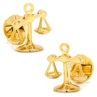 Gold Plated Moving Scales of Justice Cufflinks