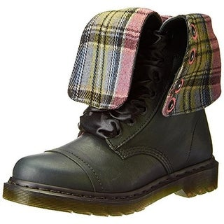 Dr. Martens Womens Triumph Leather Mid-Calf Combat Boots - 10 medium (b,m)