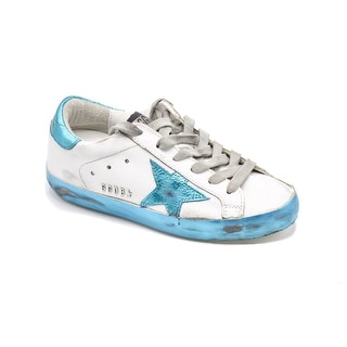 Golden Goose Super Womens Star Sparkle Low-Top White Sneakers Size 35 / 5