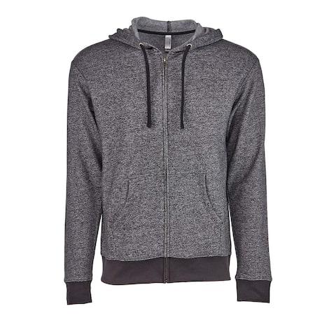 The Denim Fleece Hooded Zip