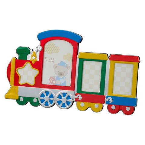 """13.5"""" Multi Colored Train Shaped Design Photo Frame - other-frame-size"""