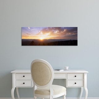 Easy Art Prints Panoramic Images's 'Sunrise over mountains, USA' Premium Canvas Art