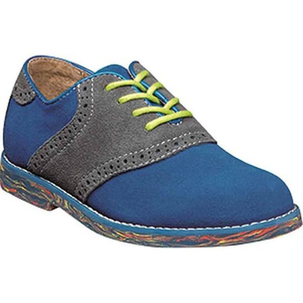 Shop Florsheim Boys' Kennett Jr. II Saddle Oxford Electric Blue Multi Suede - On Sale - Free Shipping Today - Overstock.com - 14196031