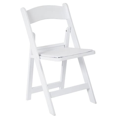 Wedding Folding Chair with Padded Seat, 4-Pack