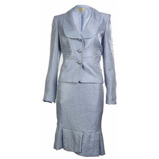 Kasper Womens Business Suit Skirt Set - Lilac - 4