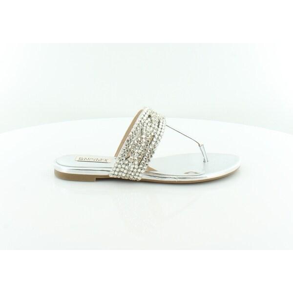 Badgley Mischka Trent Women's Sandals & Flip Flops Silver - 7.5