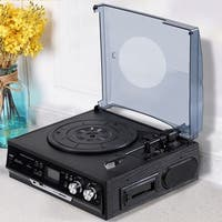 Costway 3 Speed Record Player RCA Output Turntable USB/SD MP3 Playback Built in Speaker