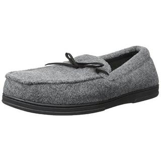 Dearfoams Mens Boater Moccasin Slip On Loafer Slippers