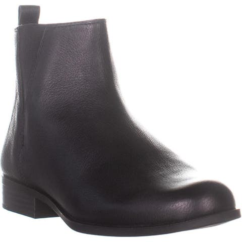 Bandolino Carnot Round Toe Ankle Boots, Black Leather