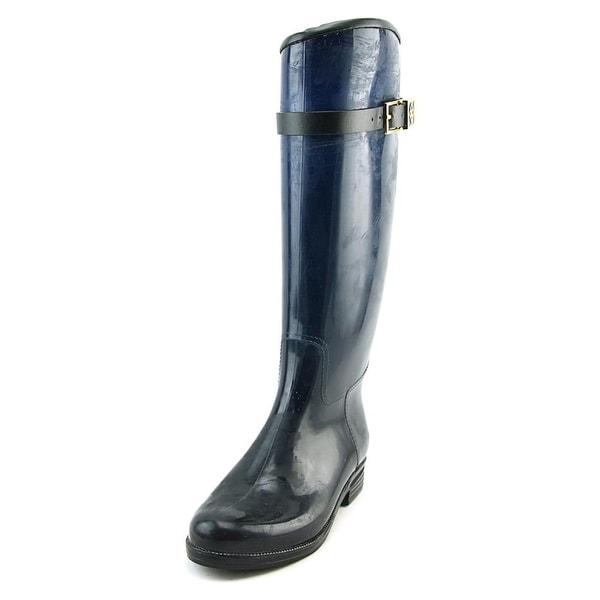 Dav Bristol Adjustable Women Round Toe Synthetic Blue Rain Boot