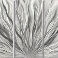Statements2000 Silver Etched Modern Metal Wall Art Sculpture by Jon Allen - Silver Plumage - Thumbnail 5
