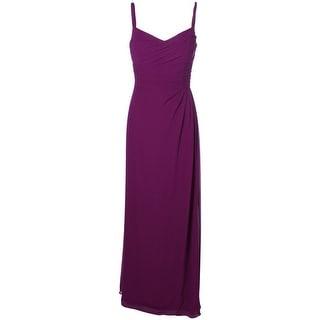 Lauren Ralph Lauren Womens Pleated Sleeveless Evening Dress