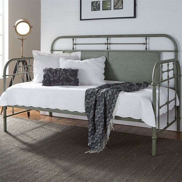 Carbon Loft Cauthen Vintage Series Green Twin Metal Day Bed. Opens flyout.