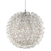 """Platinum PCPG2816 Pageant 4-Light 16"""" Wide Pendant with Metal Shade - Polished chrome - n/a"""