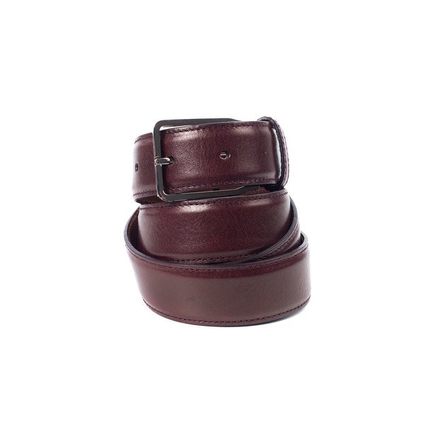 Brunello Cucinelli Women's Burgundy Leather Classic Belt