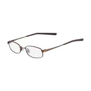 Nike Unisex Eyeglasses 4630-241 Satin Walnut Oval Full Rim Frames - satin walnut