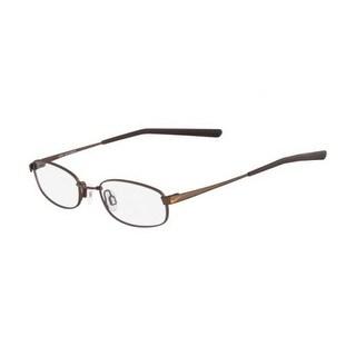 Nike Unisex Eyeglasses 4630-241 Satin Walnut Oval Full Rim Frames - satin walnut