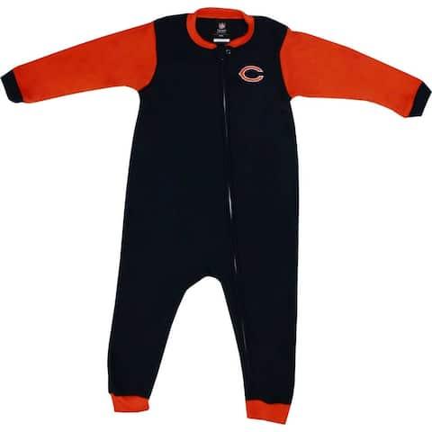 Chicago Bears Full Zip Toddler Blocked Blanket Sleeper