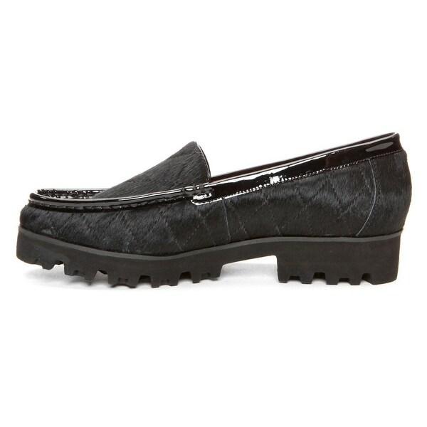 Donald J Pliner Womens Roko-H1 Calf Hair Closed Toe Loafers