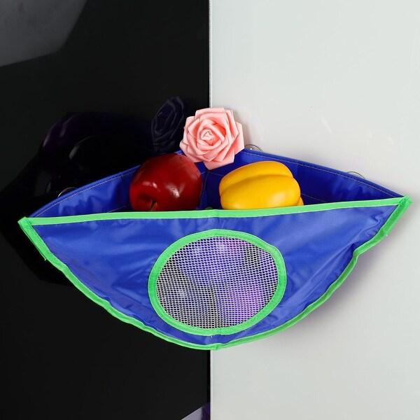 """Corner Bath Toy Organizer Bathroom Toy Net Bathtub Bag White with 3 Suction Cups - 11.8""""x11.8"""""""