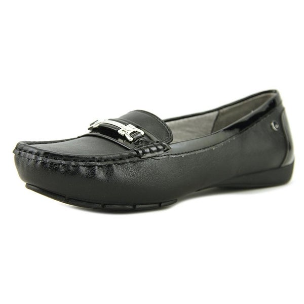 Life Stride Vanity Women Moc Toe Synthetic Black Loafer