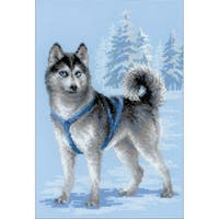 """Husky Counted Cross Stitch Kit-10.25""""X15"""" 10 Count"""