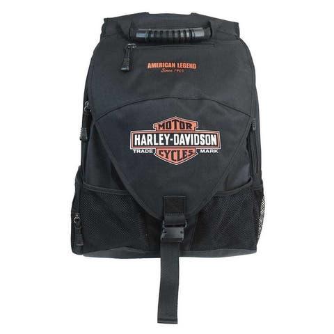 """Harley-Davidson Vintage Bar & Shield Voyager Backpack, Black BP4165S-ORGBLK - 13"""" x 20"""" x 7"""""""