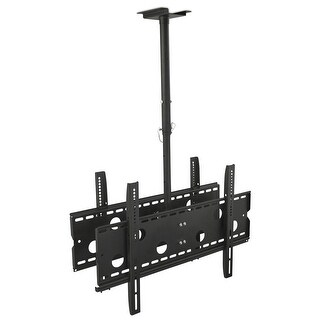 Mount-It! Dual Screen Rotating and Tilting Ceiling Mount for 32 -75 Inch TVs