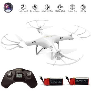 Cheerwing CW4 2.4Ghz 4CH RC Quadcopter Drone W/ HD Camera & 2 batteries - WHITE