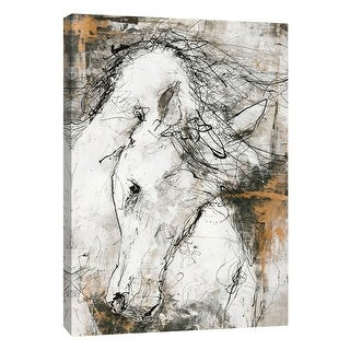 "PTM Images 9-105151  PTM Canvas Collection 10"" x 8"" - ""Contour Horse 3"" Giclee Horses Art Print on Canvas"