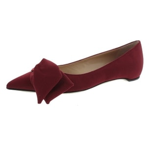 Paul Andrew Womens Corsage Ballet Flats Textured Bow Detail