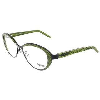 Just Cavalli JC 463 005 Green Animal Print Oval Metal Optical Frame
