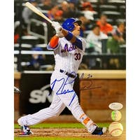 Michael Conforto Signed 8x10 New York Mets White Jersey Photo JSA