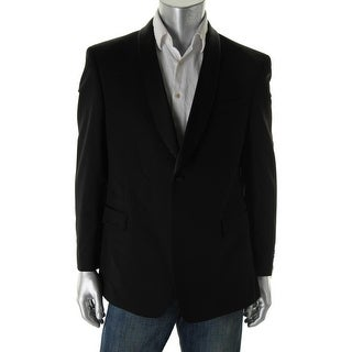 Tommy Hilfiger Mens Wool Satin Trim Tuxedo Jacket