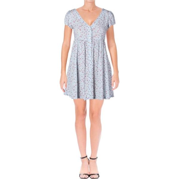 aadcc663e2 Denim  amp  Supply Ralph Lauren Womens Babydoll Dress Floral Print  Button-Front