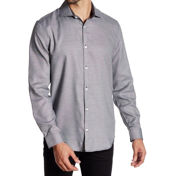 Calvin Klein NEW Gray Men Size Medium M Infinite Cool Button Down Shirt