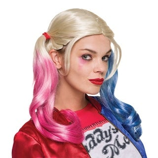 Womens Sexy Suicide Squad Harley Quinn Wig