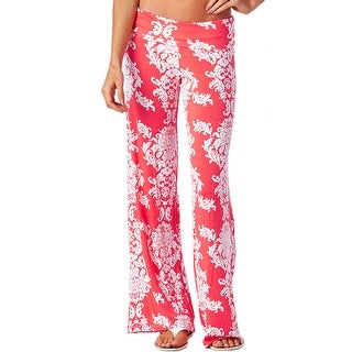 New Women's Casual Comfort Relaxed High Waist Floral Print Paisley Palazzo Pants