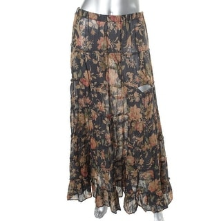 Denim & Supply Ralph Lauren Womens Tiered Floral Print Maxi Skirt - M