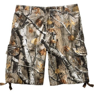 Legendary Whitetails Men's Base Camp Big Game Camo Twill Cargo Shorts