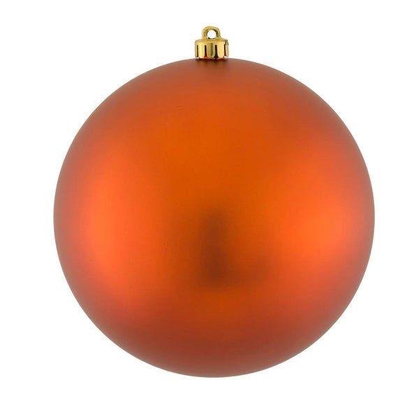 """Matte Copper UV Resistant Commercial Drilled Shatterproof Christmas Ball Ornament 8"""" (200mm) - brown"""