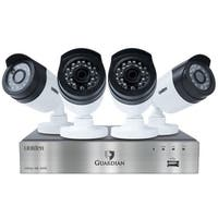 Uniden Guardian G6840D1 8-Channel Wired Video Surveillance System with DVR & 4 Cameras, White