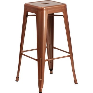Brimmes 30'' High Backless Copper Indoor/Outdoor/Patio/Bar Barstool