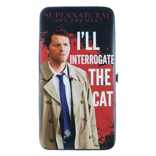 Supernatural I'll Interrogate the Cat Hinge Wallet - One Size Fits most