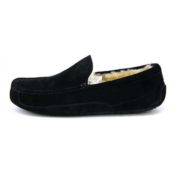 d77306dc9c2 Shop Ugg Australia Ascot Men Round Toe Suede Black Slipper - Free ...