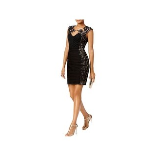 Sangria Womens Petites Party Dress Lace Sequin - 12P
