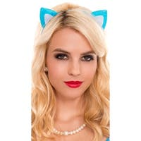 Cat Ears Headband, Cat Ears - Blue - One Size Fits most