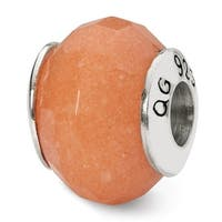 Sterling Silver Reflections Peach Quartz Stone Bead (4mm Diameter Hole)