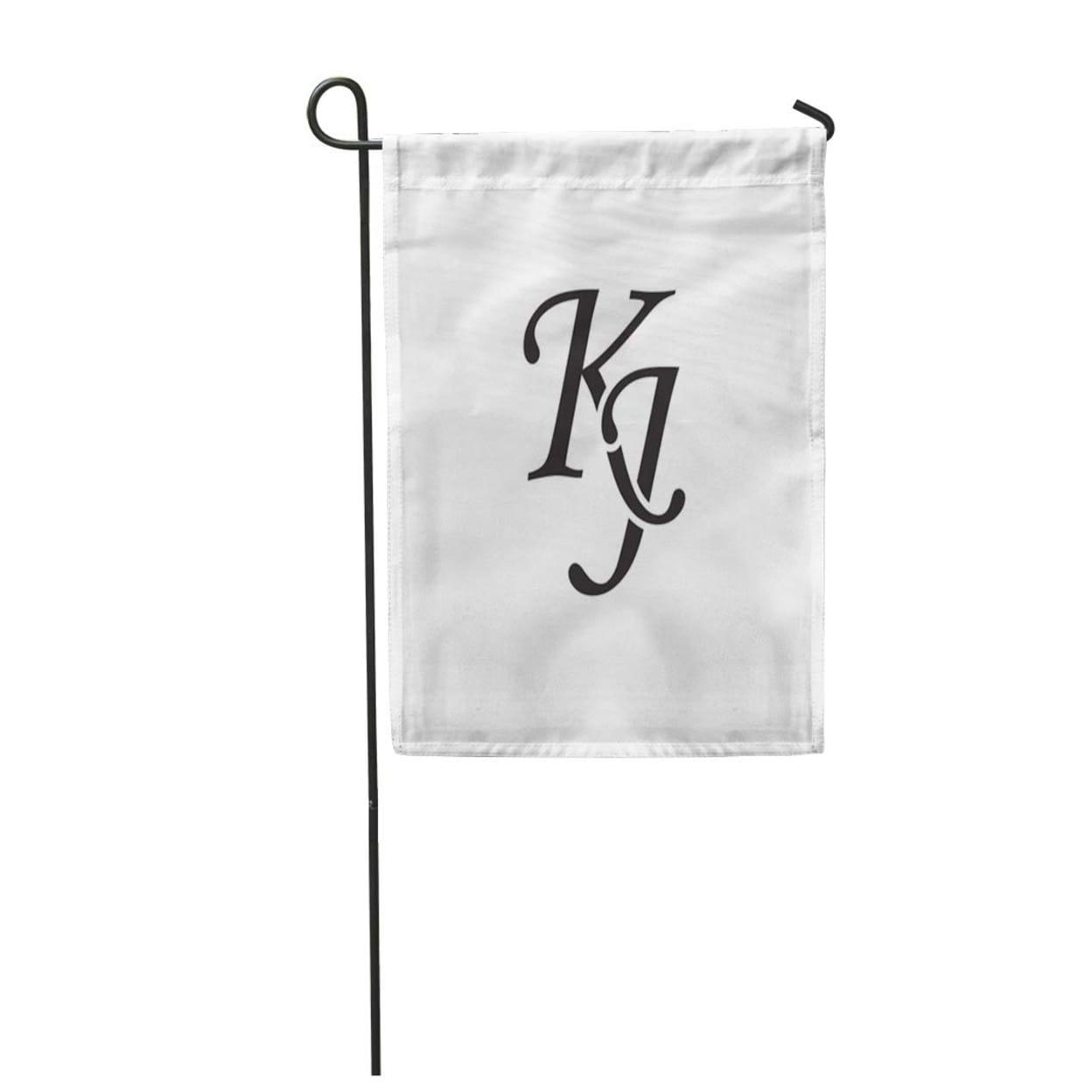 Shop Abstract Kj Initial Monogram Antique Black Boutique Brand Classic Elegance Garden Flag Decorative Flag House Banner 12x1 Overstock 31389927
